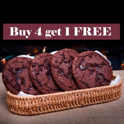 Buy 4 Get 1 Free Double Chocolate Chip Cookie (DLB006)